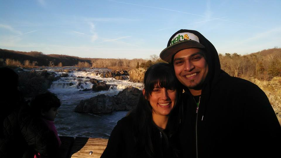 With my lovely lady Nicole at Great Falls Park in VA.