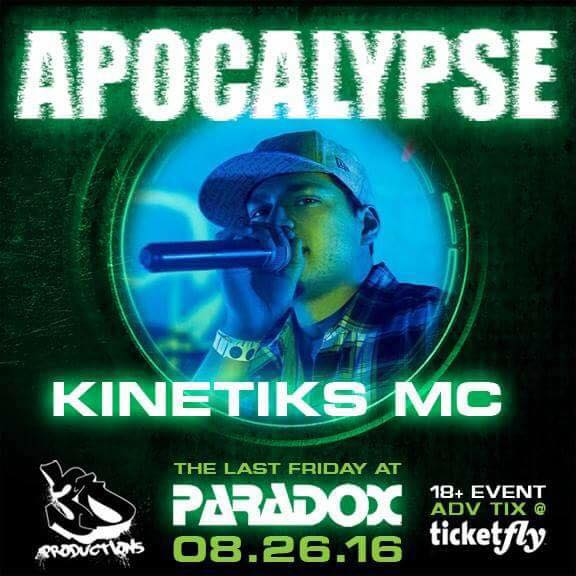 Kinetiks MC --> Apocalpyse! Last Friday @ the Paradox, Baltimore!