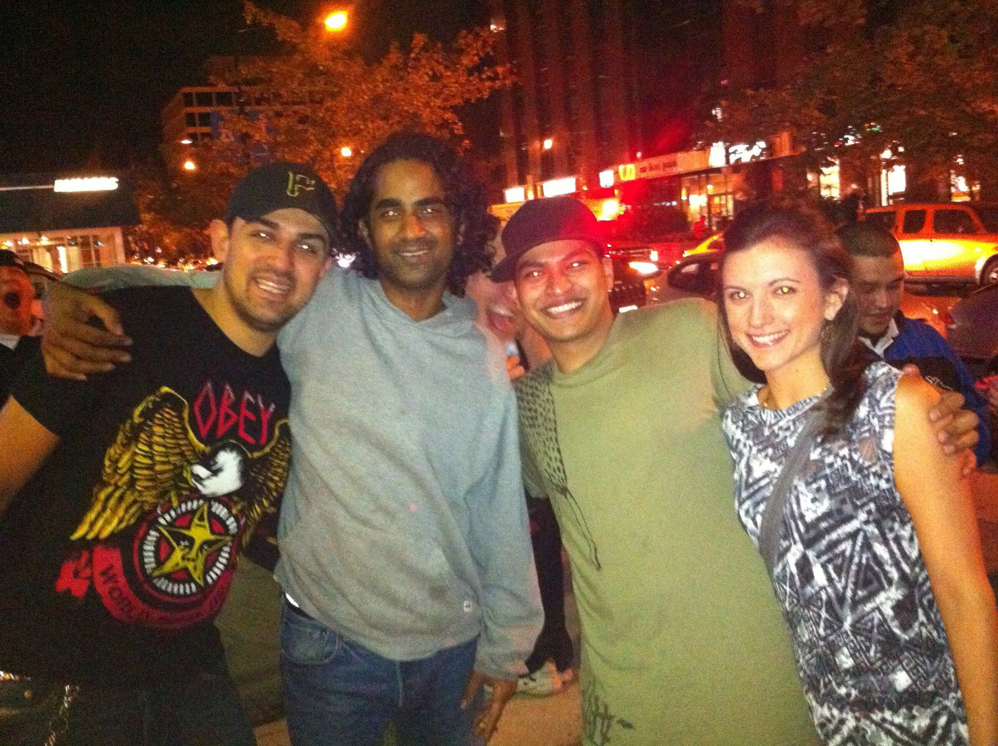 With S.P.Y. and friends outside Sweetspot in 2011