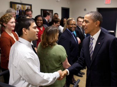 Meeting President Obama in 2012