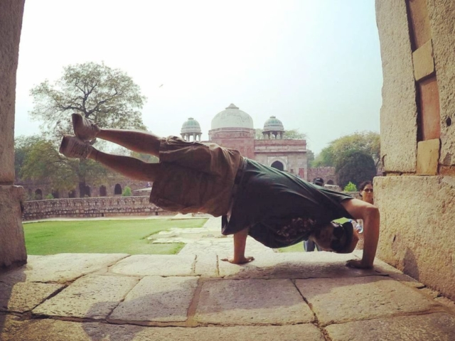 Freeze - Isa Khan's Tomb in New Delhi, India - Circa March 2016