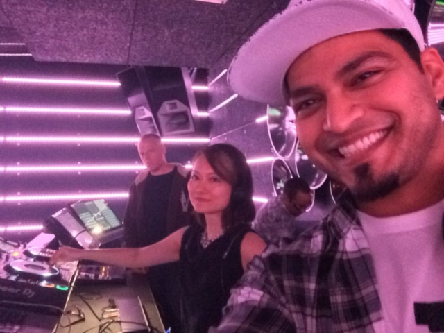Warm-up selfie with Cadence Boss mama DJ Vanniety Kills & Kinetiks MC!