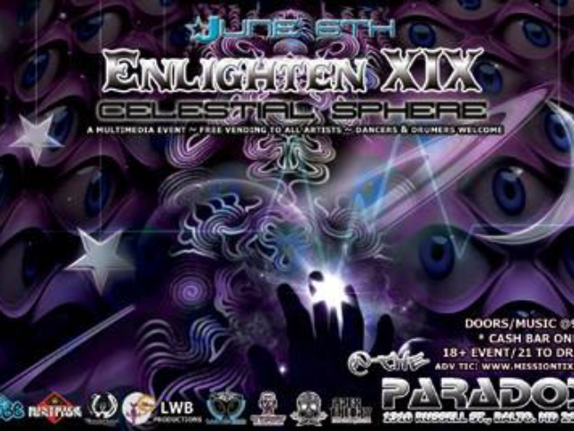 w/ Moody Moore for Enlighten XIX @ The Paradox, Baltimore MD – 6/15