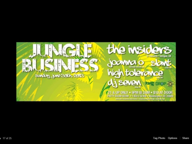 w/ Seven – Jungle Business @ Patty Boom Boom, DC 6/13