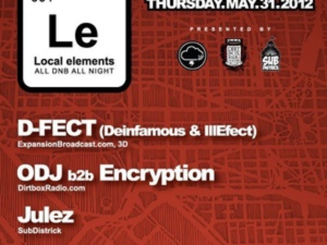 w/ D-Fect – Local Elements @ U St. Music Hall – 5/12
