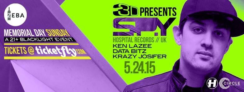 w/ SPY, Ken Lazee, Data Bitz, Krazy Josifer @ Zeba Bar, DC – 5/15