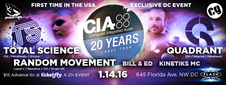 C.I.A. Records Tour @ Flash! 1/14/16