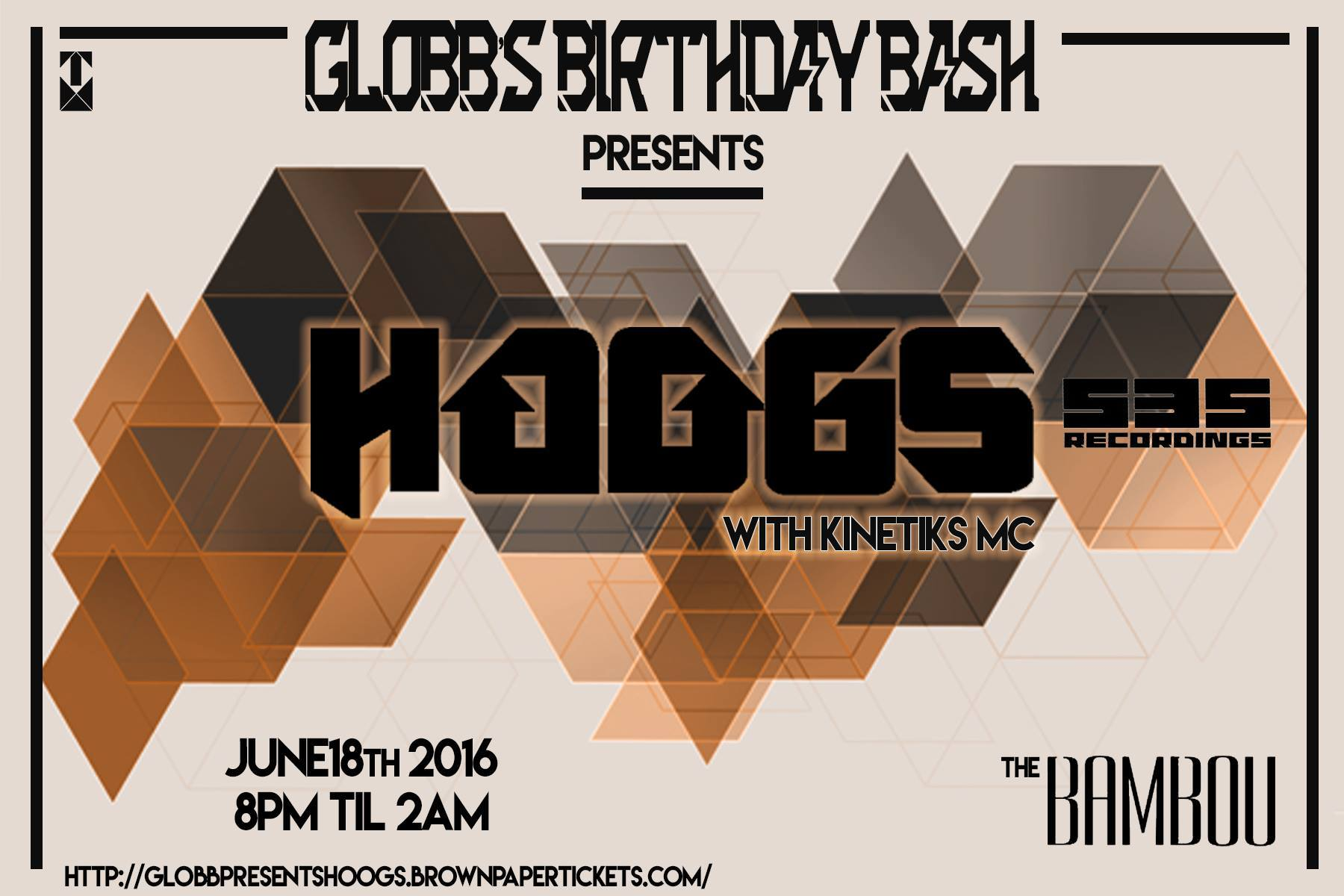 Globb's Birthday Bash presents: Hoogs @ Bambou - 6/18!