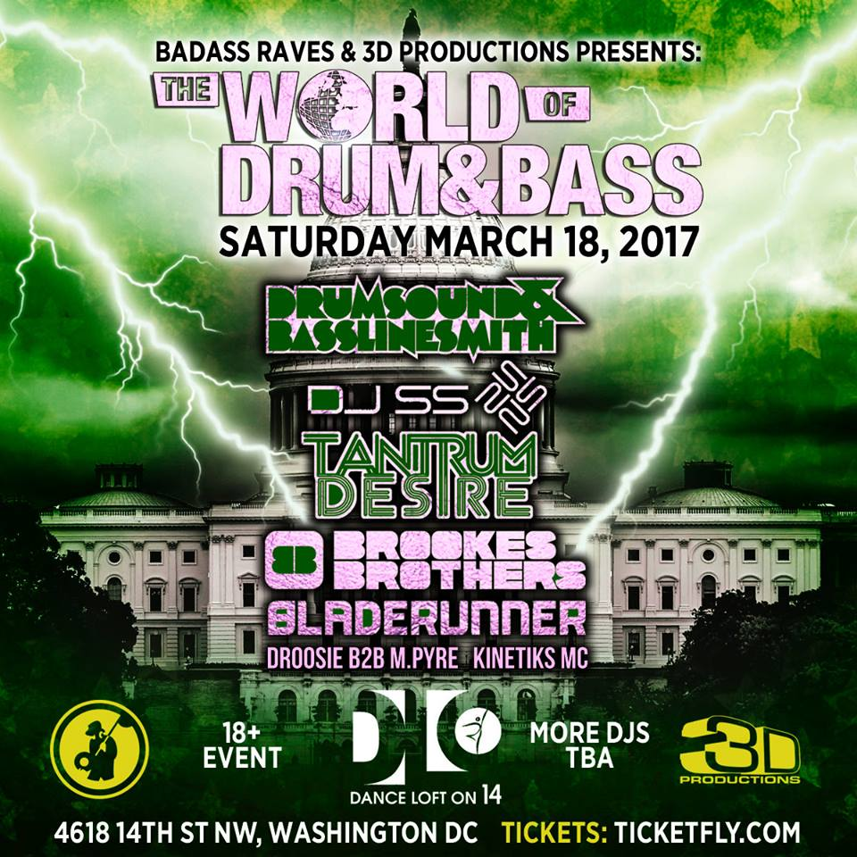 The World of Drum & Bass DC @ Dance Loft on 14th [03.18.17]
