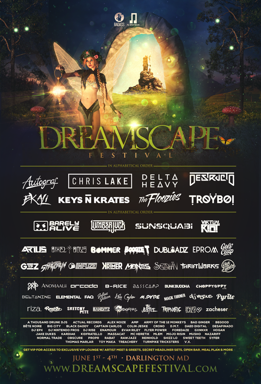 Dreamscape Festival 2017 – Camp Ramblewood, MD [6/1/17 – 6/4/17]