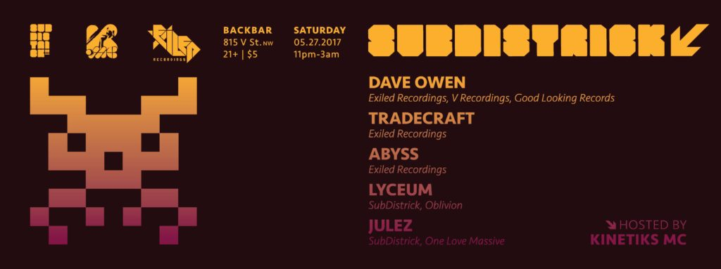 SubDistrick May 2017 – Exiled Recordings Takeover! [5/27/17]