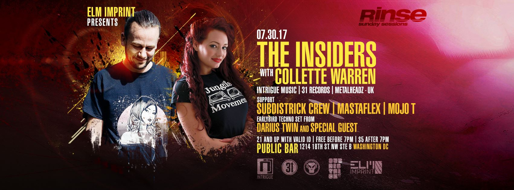 Rinse (Sunday Sessions) The Insiders w/ Collette Warren, SubDistrick crew + more! [06.13.17]
