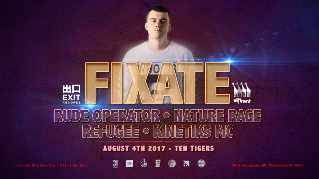 SubDistrick & Amalgamation presents: Fixate @ Ten Tigers! [Fri 08.04.17]