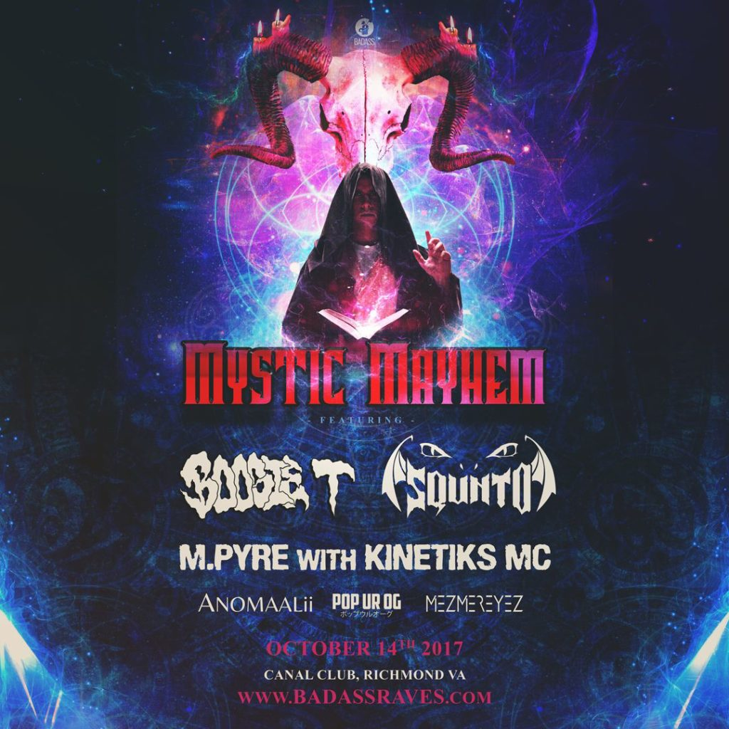 Mystic Mayhem (Halloween Rave) – Richmond, VA [10/14/17]