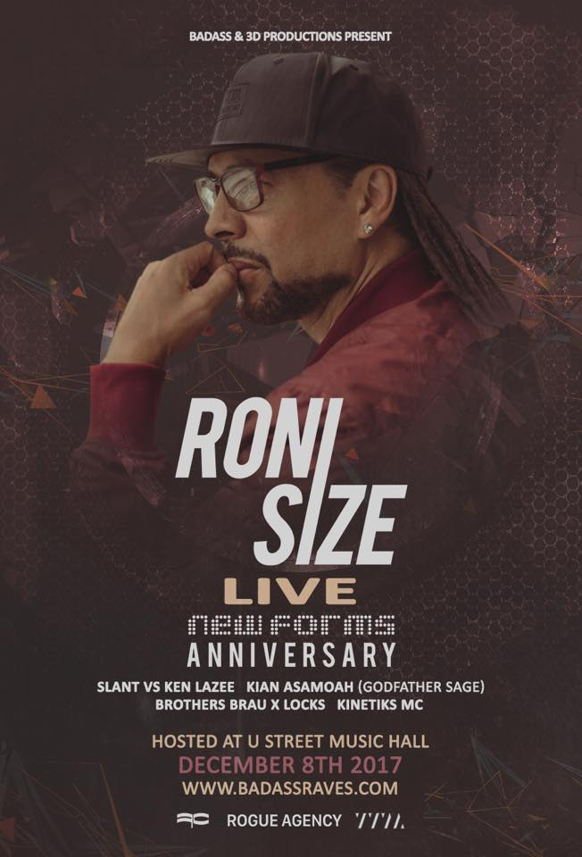 Roni Size (LIVE) @ U Street Music Hall – [Friday -12/8/17]