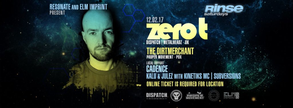 Rinse & Resonate present: Zero T [12.02.17]